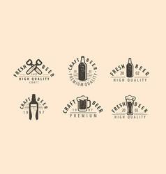 beer symbol or label pub brewery drink concept vector image
