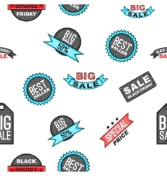 Black friday pattern cartoon style vector