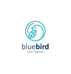 blue bird logo simple design vector image
