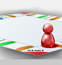 Board game with red figure vector image