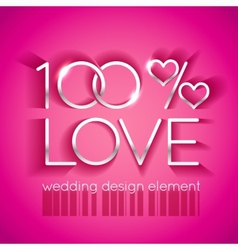 Bright pink wedding design element vector image