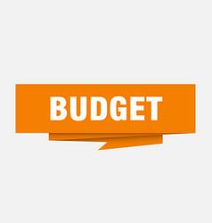 Budget vector