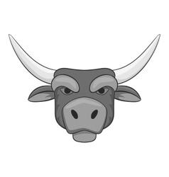 Bull head icon gray monochrome style vector image