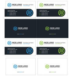 Business card with the letter n attractive cards vector