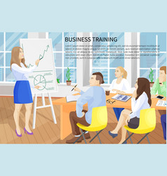 Business training poster text vector