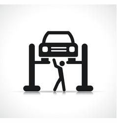 Car lift symbol icon vector