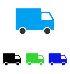 Cargo van flat icon vector