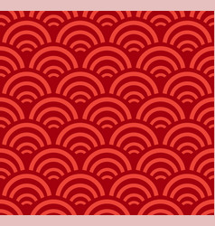 Chinese marine seamless pattern with waves vector