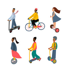 City transportation active character vector
