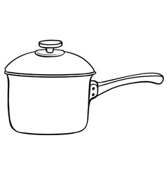 Cooking pot vector image