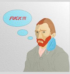 coronavirus humor concept hand drawn dutch vector image