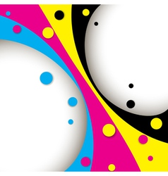 Creative CMYK abstract design vector image