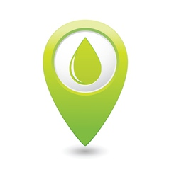 Drop icon green map pointer vector