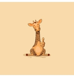 Emoji character cartoon Giraffe approves with vector