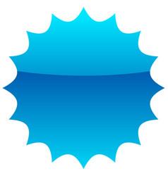 Empty badge price flash vector