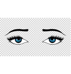 eyes hand drawn female luxury eye with vector image