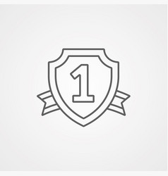 first place icon sign symbol vector image