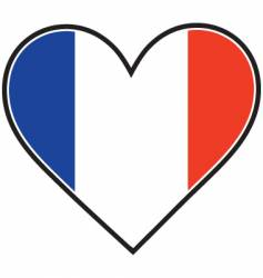 French heart flag vector