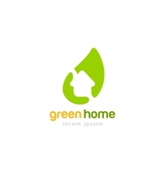 Gren house home logoplate vector image