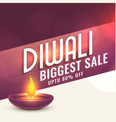Happy diwali sale banner design vector