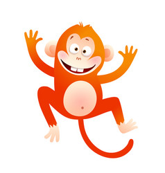 Happy monkey for kids clipart vector