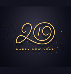 happy new year 2019 wishes typography vector image