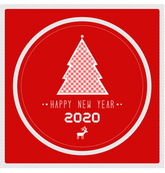 happy new year 2020 with christmas tree vector image