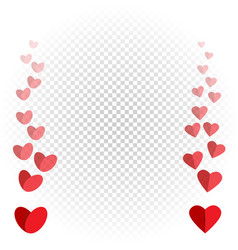 Hearts like flies up and disappears vector