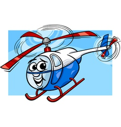 helicopter or chopper cartoon vector image