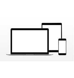 Laptop computer tablet phone vector