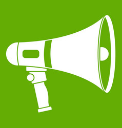 megaphone icon green vector image