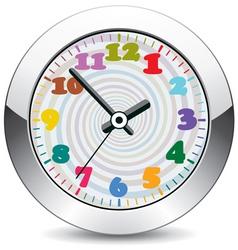 metal clock vector image