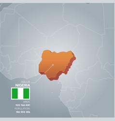 nigeria information map vector image