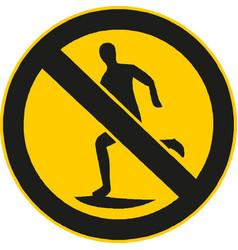 No run sign vector
