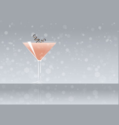 Official cocktail icon the unforgettable alexander vector