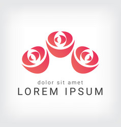 Orange rose curve logo design template vector