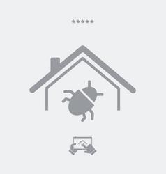 Pest control service - web icon vector