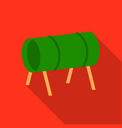 Playground tunnel icon in flat style isolated on vector