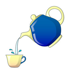 pouring tea icon cartoon style vector image