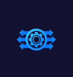 Production development concept icon vector