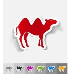 Realistic design element camel vector