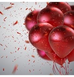 Realistic glossy balloons vector image