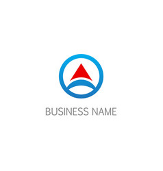 round business abstract triangle arrow logo vector image
