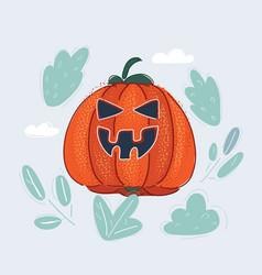 scary jack lantern vector image