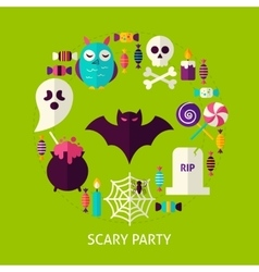 Scary Party Greeting Card vector