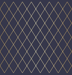seamless dark blue and gold geometric pattern vector image