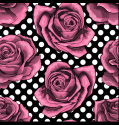seamless pattern background with outlined pink vector image