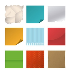 Sheets design vector image