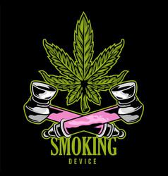 Smoking device print vector