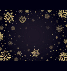 snow frost backdrop snowflakes winter frame xmas vector image